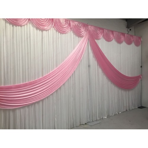 Baby Pink Butterfly Backdrop Curtain