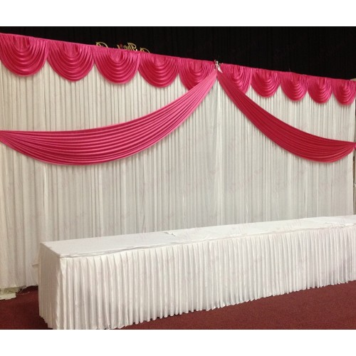 Hot Pink Butterfly Backdrop Curtain