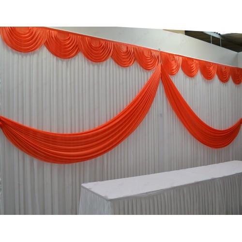 Orange Butterfly Backdrop Curtain