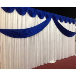 Royal Blue Butterfly Backdrop Curtain