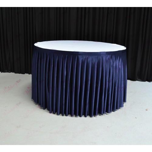 4M Navy Blue Table Skirt
