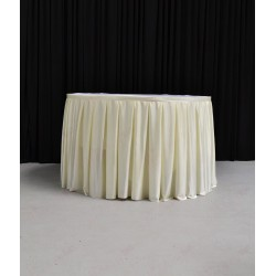 4M Ivory Table Skirt
