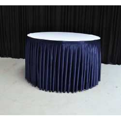 4M Navy Blue Table Skirt