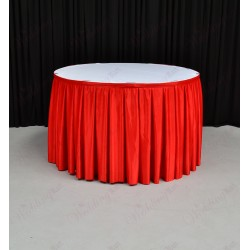4M Red Table Skirt