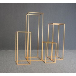 100cm Budget Rectangular Metal Centrepiece Stands