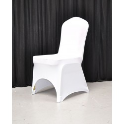 Pack of 100 Premium White Spandex Chair Covers - Arch Front