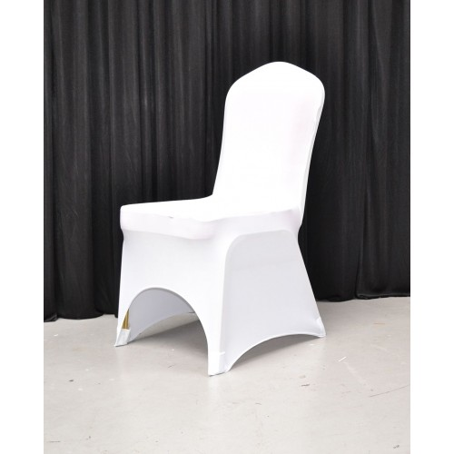 Premium Quality White Spandex Chair Cover Sample