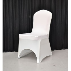Premium Ivory Spandex Chair Covers - Arch Front