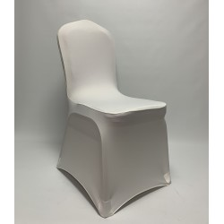 Premium Ivory Spandex Chair Covers - Flat Front
