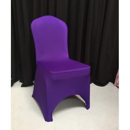 Premium Purple Spandex Lycra Chair Covers
