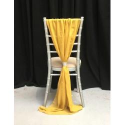 Gold Chiffon Vertical Chair Bows