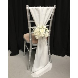 Ivory Chiffon Vertical Chair Bows