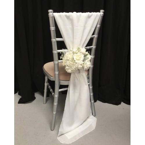 Ivory Chiffon Vertical Chair Bows
