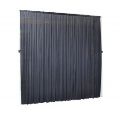 3Mx3M Black Pleated Backdrop Curtain