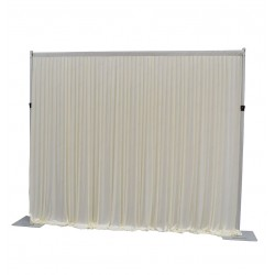 3Mx3M Ivory Pleated Backdrop Curtain