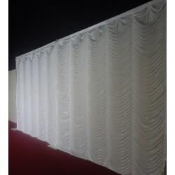 3Mx3M White Devdas Backdrop Curtain