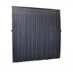 3Mx3M Black Pleated Backdrop Curtain