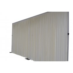 6Mx3M Ivory Pleated Backdrop Curtain