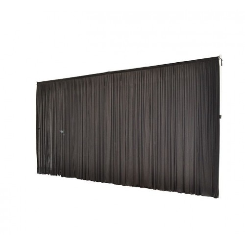 6Mx3M Black Pleated Backdrop Curtain