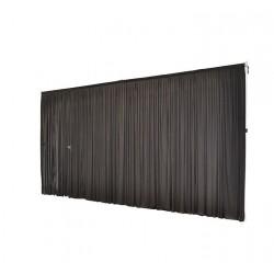 6Mx3M Black Pleated Backdrop Curtain