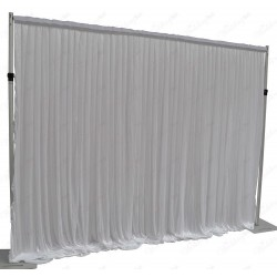 3Mx3M White Pleated Backdrop Curtain