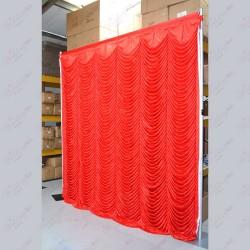 Red Devdas / Austrian Backdrop Curtain