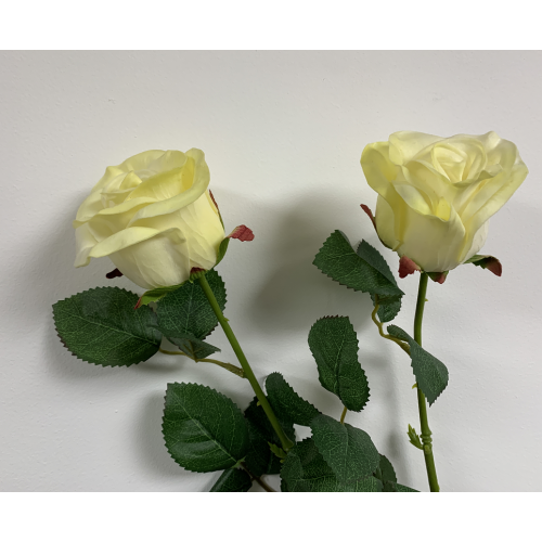 Real Touch Ivory Rose Stem