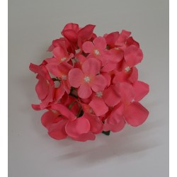 Fuchsia Pink Hydrangea Flower Heads - Pack of 10