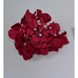 Red Hydrangea Flower Heads - Pack of 10