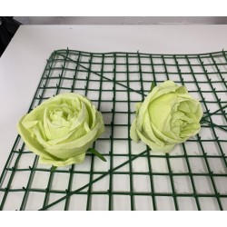 Pack of 10 Artificial Closed Rose Heads - Green