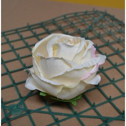 Pack of 10 Artificial Closed Rose Heads - Ivory