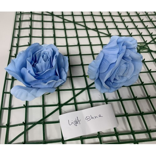 Light Blue Rose Heads -  Pack of 10
