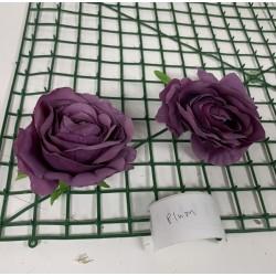 Plum Rose Heads -  Pack of 10