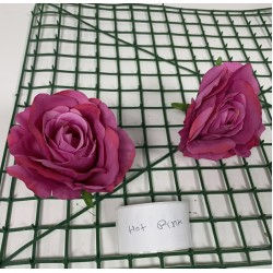 Hot Pink Rose Heads - Pack of 10