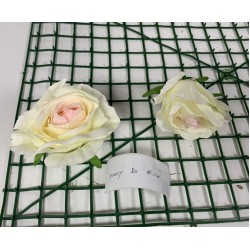 Ivory with Pink Rose Heads - Pack of 10