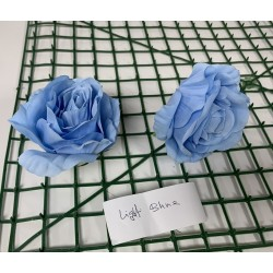 Light Blue Rose Heads -  Pack of 10