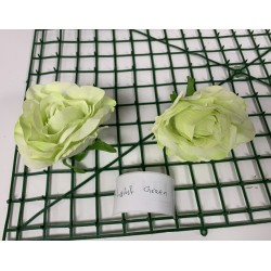 Light Green Rose Heads - Pack of 10