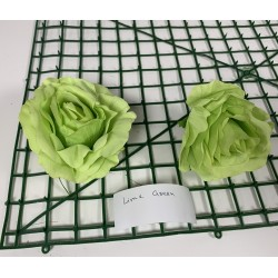 Lime Green Rose Heads - Pack of 10