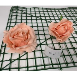 Peach Rose Heads - Pack of 10
