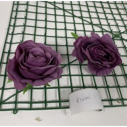 Plum Rose Heads -  Pack of 10