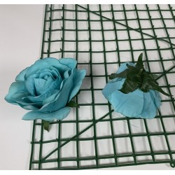 Turquoise Rose Heads - Pack of 10
