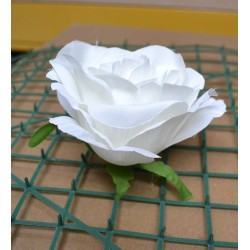 White Rose Heads - Pack of 10