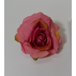 Dark Pink Small Rose Heads - Pack of 10