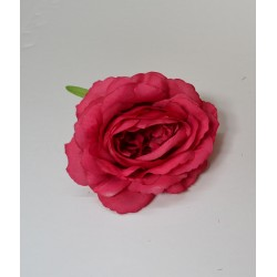 Fuchsia Small Rose Heads - Pack of 10