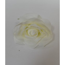Ivory Small Rose Heads - Pack of 10