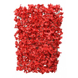 Budget Red Hydrangea Flower Wall Panel - Clearance