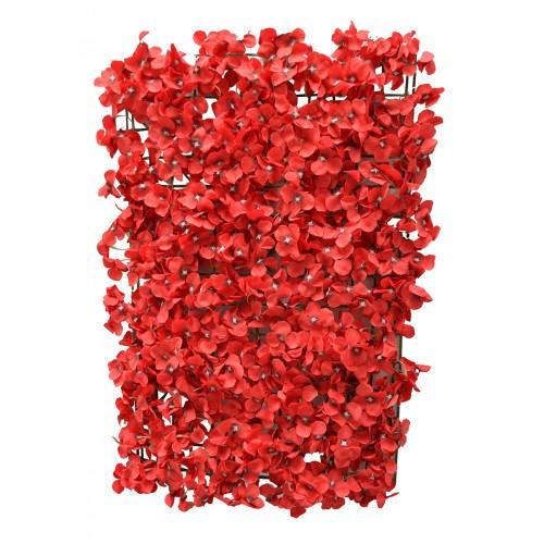 Budget Red Hydrangea Flower Wall Panel