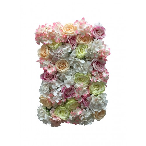Premium Purple and Green Mix Flower Wall Panel
