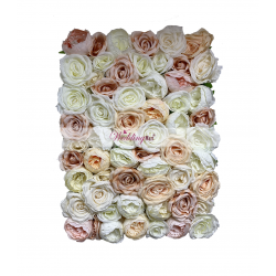 Premium Peach and Pink Mix Flower Wall Panel