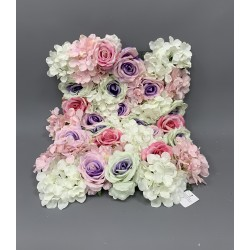 Premium Purple and Pink Mix Flower Wall Panel
